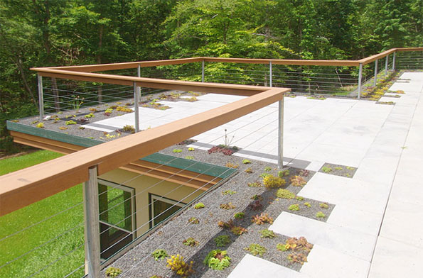 Earth Roof with Tiled Pedestrian Area - Tropical Earth Roofs