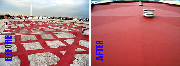 Caribbean Roofing Sealant - Before and After